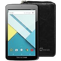 "Visual Land ME7QSWC16GBBLK Tablet with Wallet Case 7"", Wi-Fi, 16GB, A33 Arm Cortex-A7 Quad Core Processor 1.33Ghz, 1GB RAM, Android Lollipop 5.0, Black"
