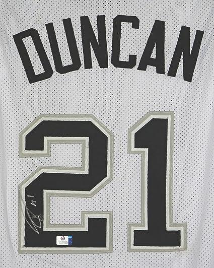 newest collection fd0d5 e2c14 Tim Duncan San Antonio Spurs Signed Autographed Custom White ...