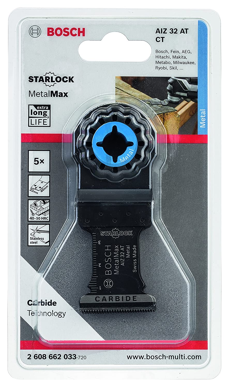 Bosch ProfessionalTauchs/ägeblatt Metall f/ür Multifunktionswerkzeuge Starlock 5 St/ück, AIZ 32 AT