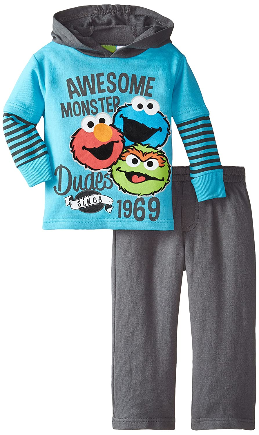 Sesame St Baby Boys' 2pc Top and Pant Set CAN Sesame St Baby