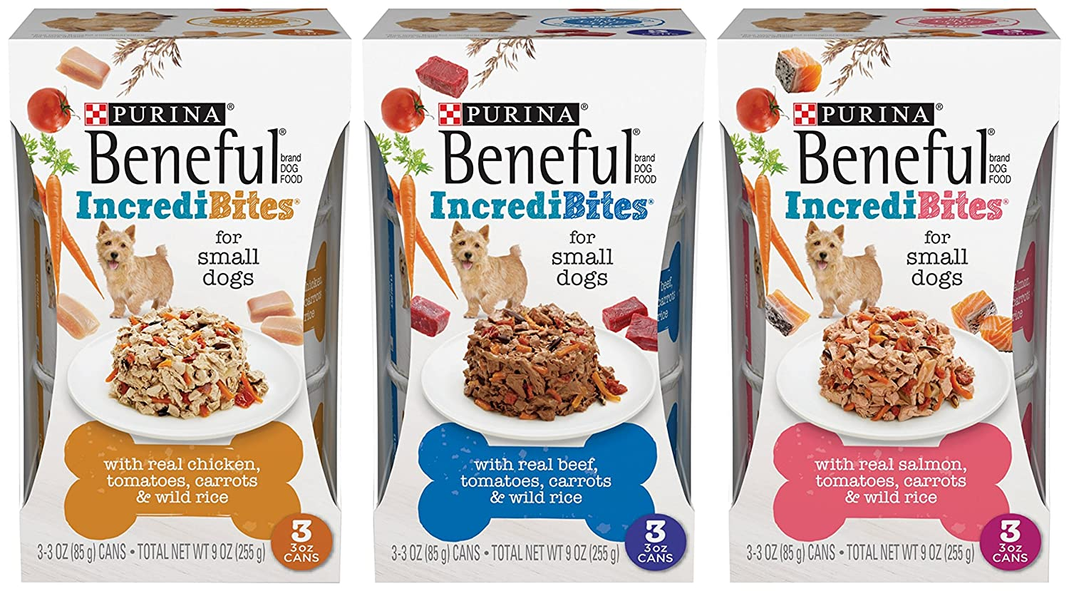 Purina Beneful Incredibites for Small Dogs Variety Pack Dog Food, 9 Cans (3 oz Each)