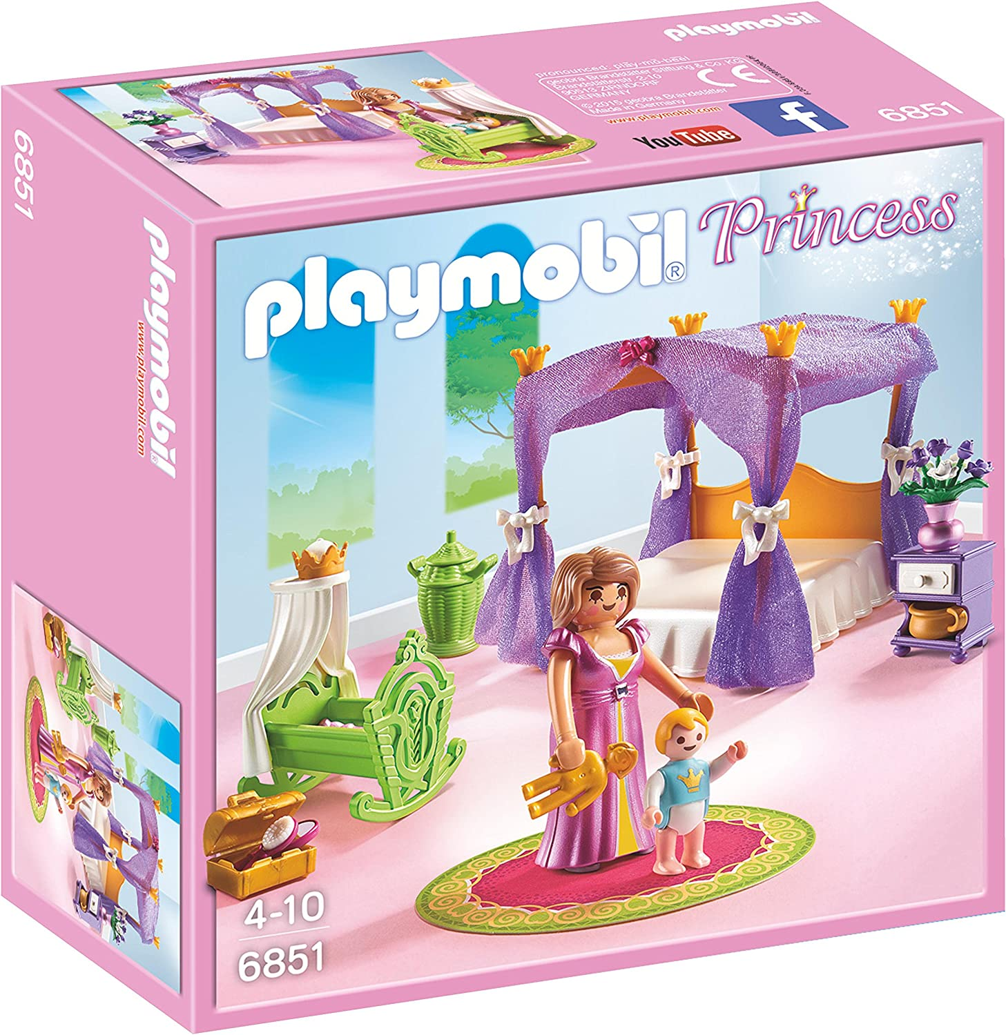 PLAYMOBIL - Dormitorio de Princesas con Cuna (6851): Amazon.es ...
