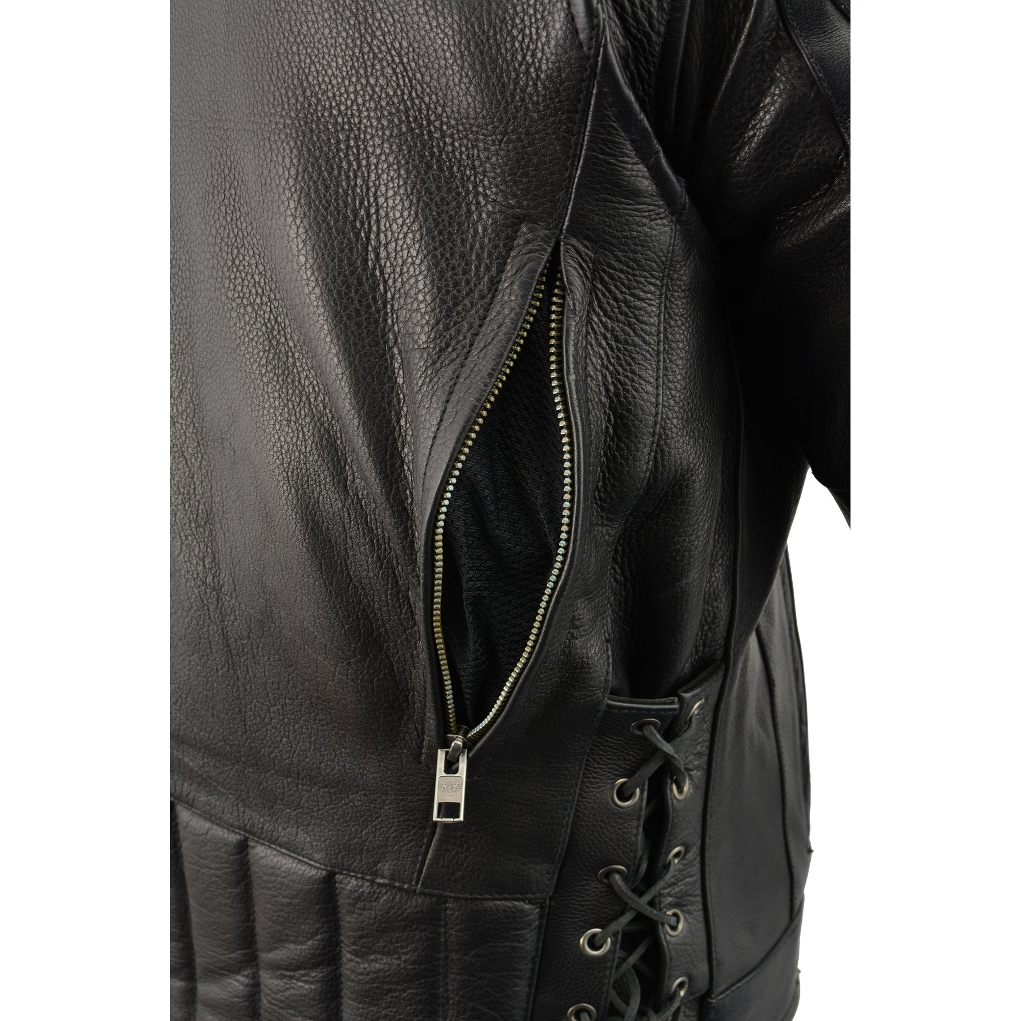 Milwaukee Leather Men's Side Lace Vented Scooter Jacket (Black, 5X-LargeTall) by Milwaukee Leather (Image #13)