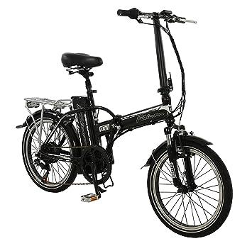 """20 """"Bicicleta eléctrica fusible – Suspensión Plegable E-Bike bicicleta Falcon adultos Plata"""