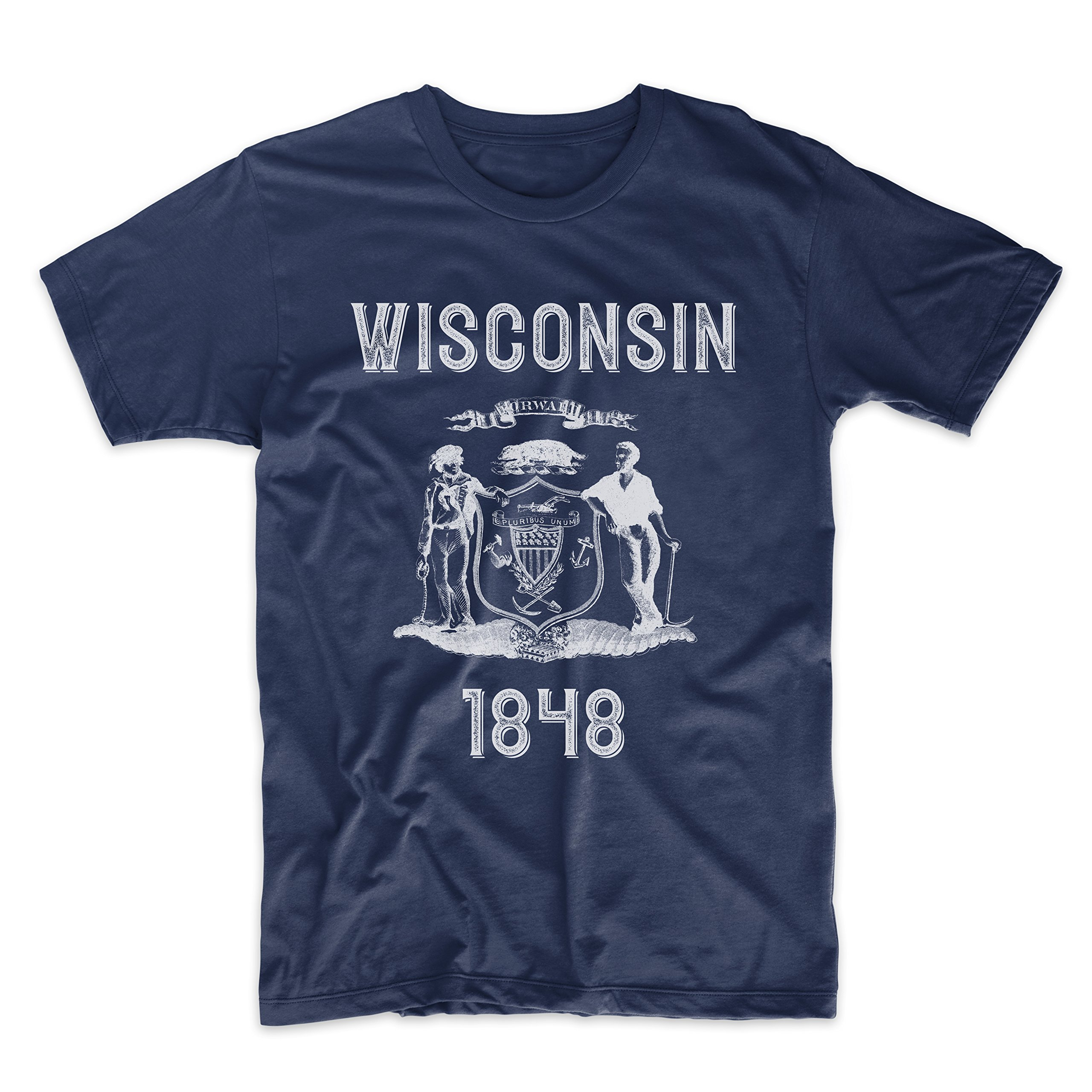 PatentPrints Wisconsin Coat of Arms T Shirt