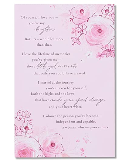American Greetings Sentimental Birthday Card For Daughter With Glitter