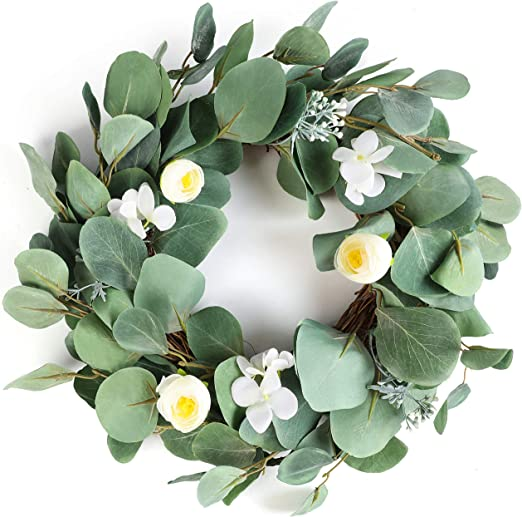 Yellow. Round Summer Fall Large Wreaths Springtime All Year Around Flower Green Leaves for Outdoor Front Door Indoor Wall Or Window D/écor Artificial Sunflower Wreath