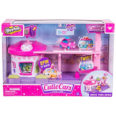 Cutie Cars Shopkins Drive Thru Diner Playset: Cutie Car Shopkins: Toys & Games