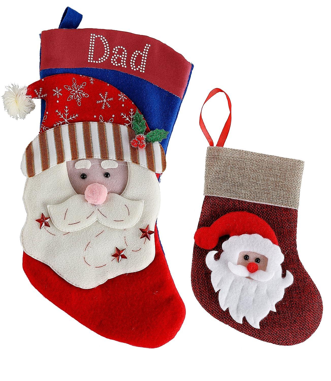 2x 3D REINDEER Personalised Christmas Stocking Filler Crystal Santa/Snowman/Reindeer gift By Varsany