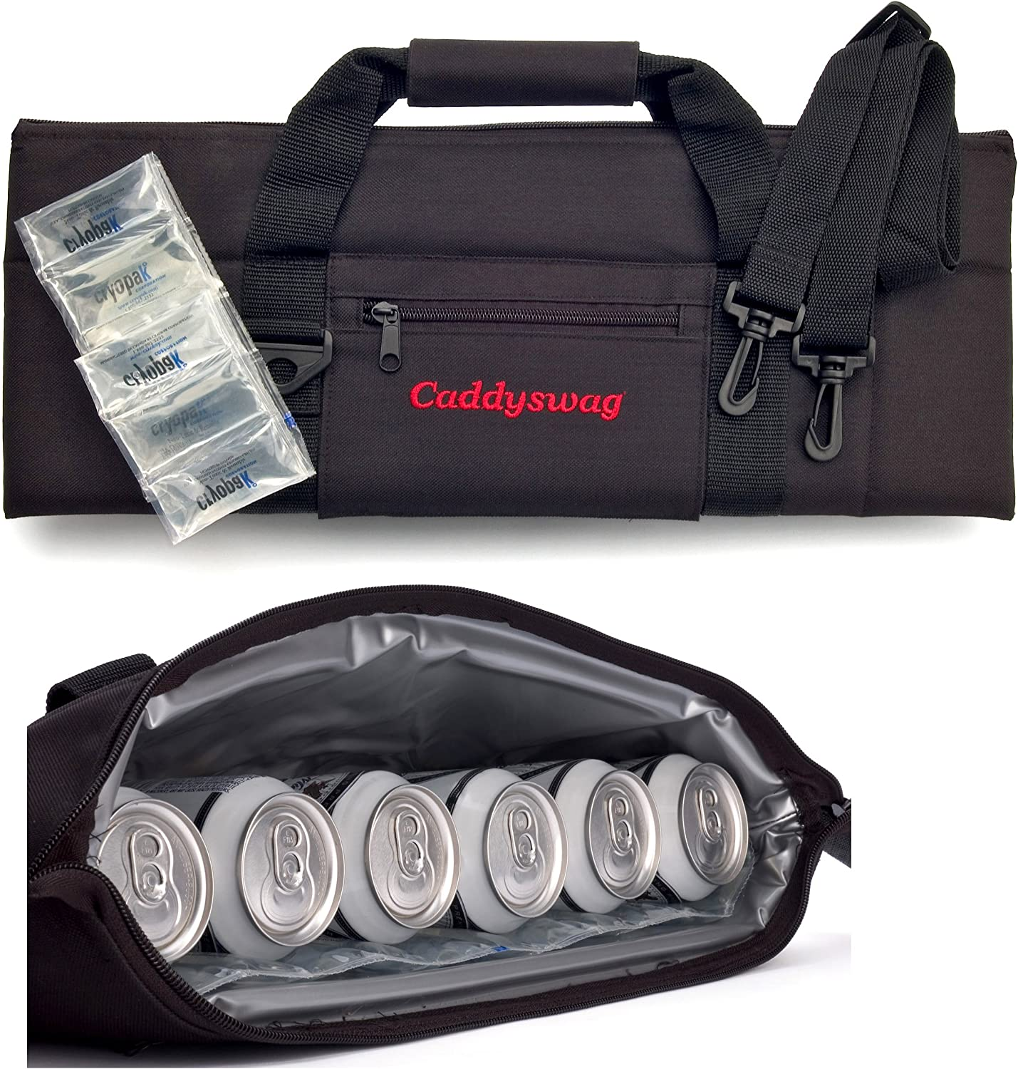 Caddyswag Par 6 Pack Golf Bag Cooler With Flexible Reusable Freezer Gel Pack