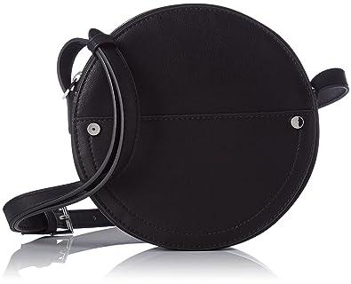 8da75738fe Pimkie Sac rond bandoulière faux cuir noir Femme: Amazon.fr ...