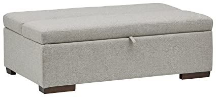 Genial Rivet Fold Modern Ottoman Sofa Bed, 48u0026quot; W, Light Grey