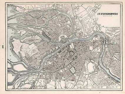 Amazon Com Historic Map St Petersburg Russia 1893 World Atlas