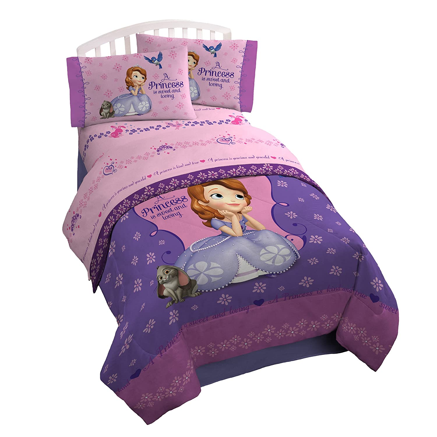 disney sofia sheet set quot graceful quot kids bedroom girls 11440 | 91kmj7cxanl sl1500