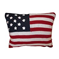 RALPH LAUREN Lauren Home USA Flag Embroidered Throw Pillow 12 x 16