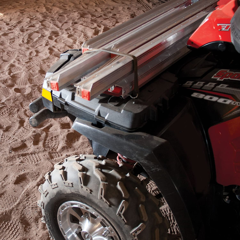 Yutrax Rush TX500 Silver 76-inch Truck Ramp Pair 2000 lb Capacity Snow Blower UTV Ramp//ATV Ramp//Motorcycle Ramp//Loading Ramp for Lawnmower Multi-Folding Ultra Packable Truck Loading Ramps