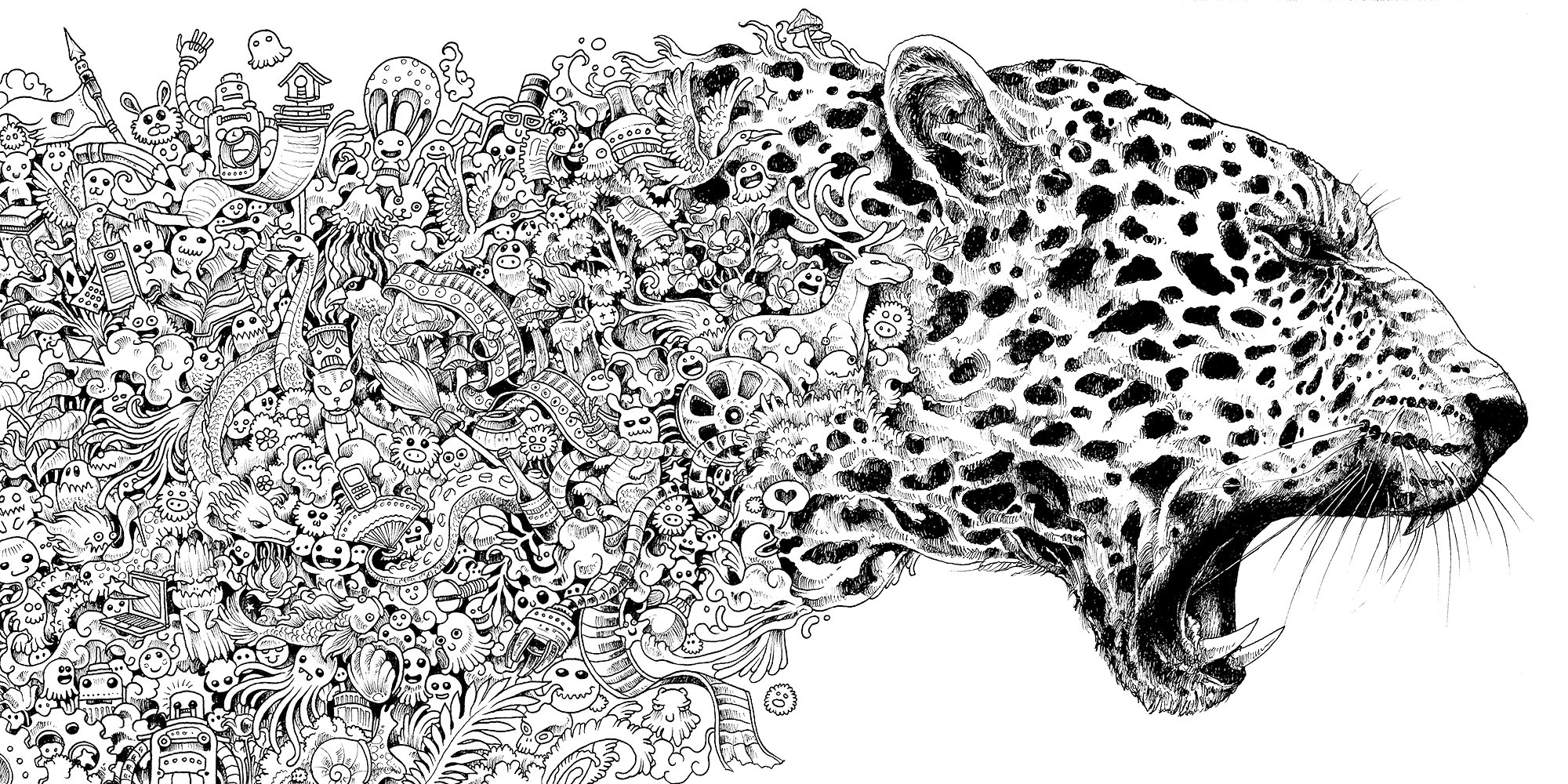animorphia: an extreme coloring and search challenge: kerby ... - Challenging Animal Coloring Pages