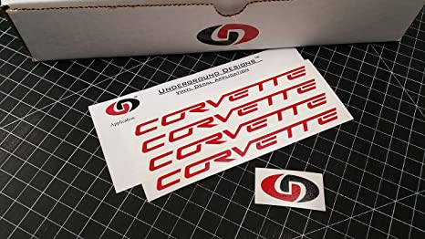 UNDERGROUND DESIGNS Corvette Wheel Decals C5 C6 Racing Stickers (4 Pack)  0 75