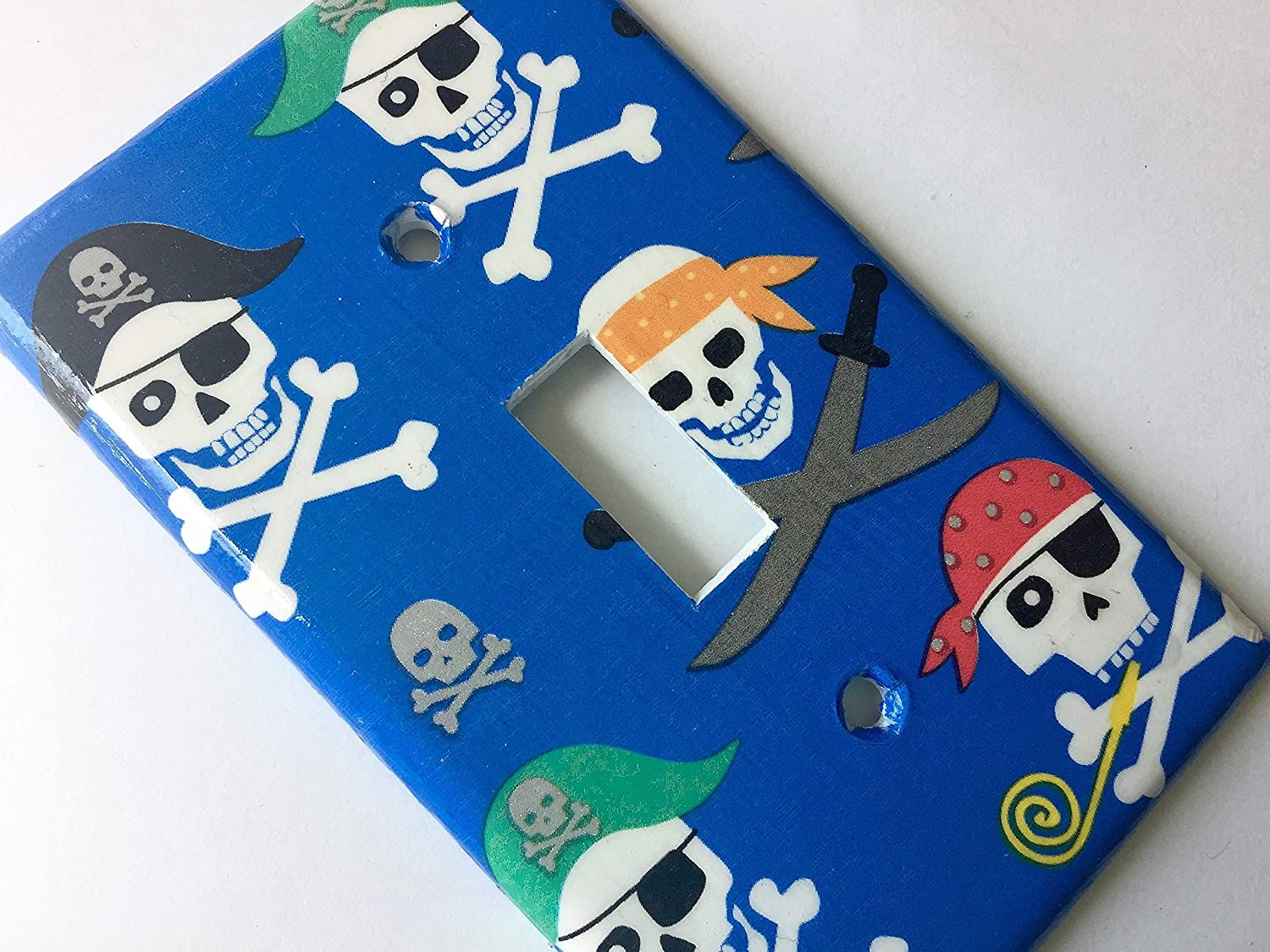 Pirate Skull Light Switch Cover Various Size Light Switchplates Offered