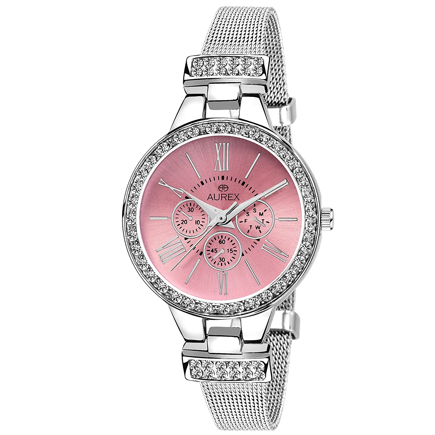 Aurex Awesome Analog Pink Dial Women's And Girl's Watch (AX-LR504-PKC)