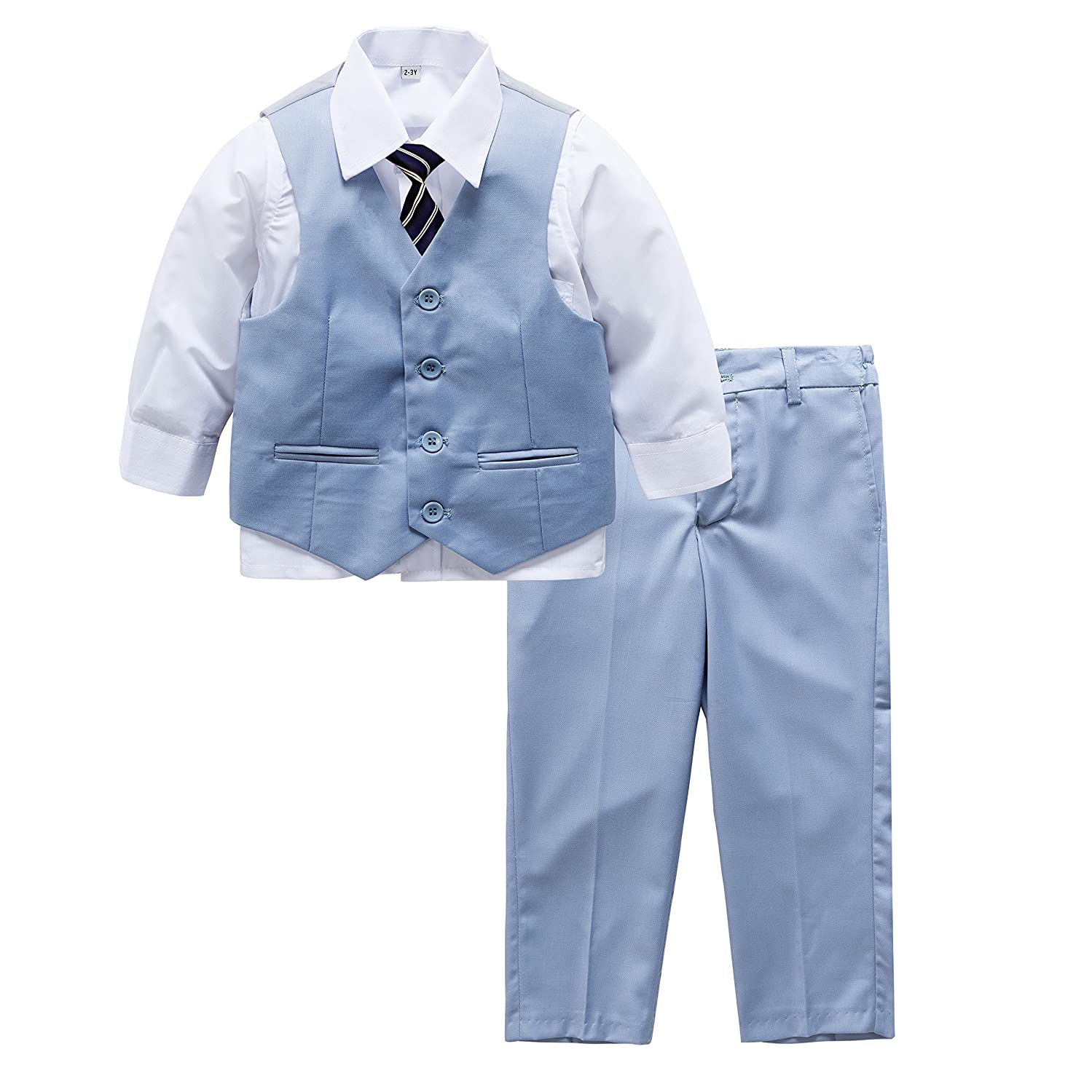 Page Boy Wedding Formal Christening Pale Blue Suit With Tie