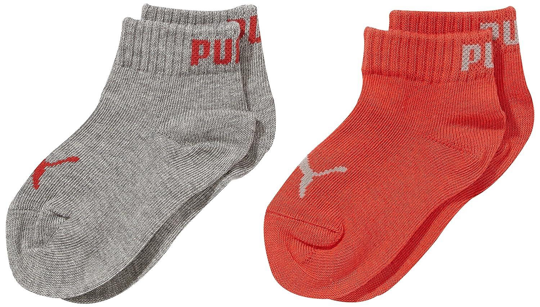Puma Quarter Kids 2P, Calcetines Infantil, Multicolor (Drizzle Mélange), 35 38 EU, Pack de 2