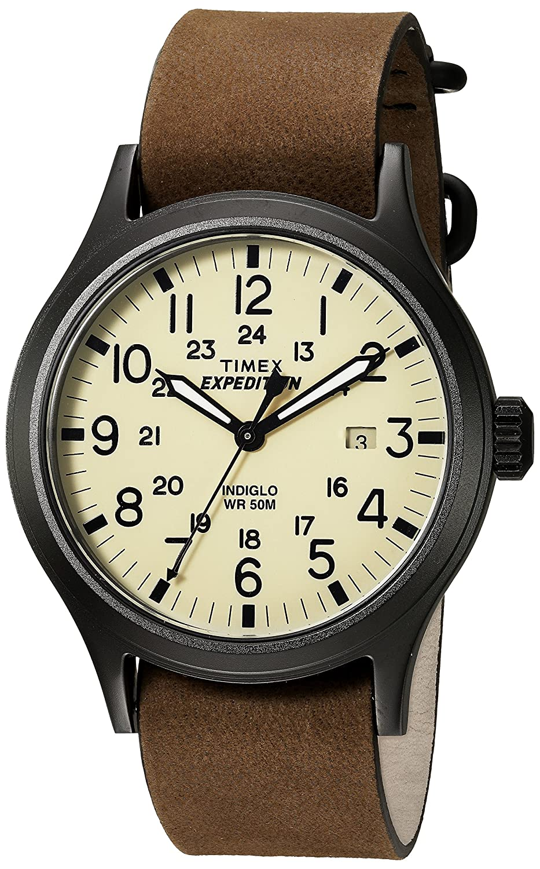 Timex メンズ Expedition Scout 40 腕時計 Dark Brown/Black/Natural B01JO761J8 Dark Brown/Black/Natural Dark Brown/Black/Natural