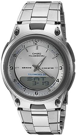 e3f12080888 Relógio Masculino Anadigi Casio Standard AW-80D-7A - Prata  Amazon ...
