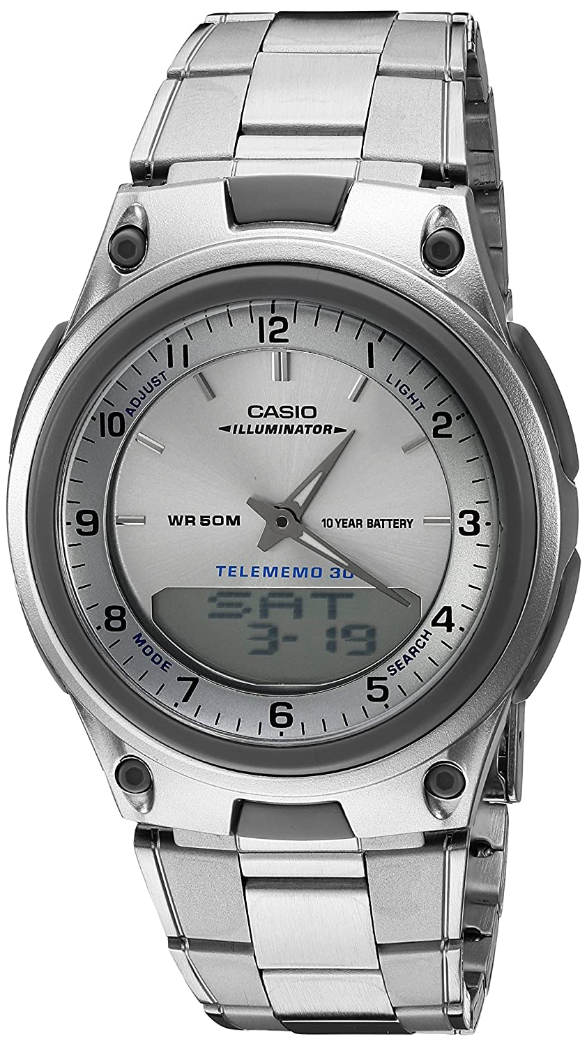 Casio Men AW80D7A Sports Chronograph Alarm 10Year Battery Databank Watch
