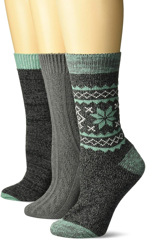 MUK LUKS Womens 3 Pair Pack Boot Socks texture pack OSFM 0023365016-OS