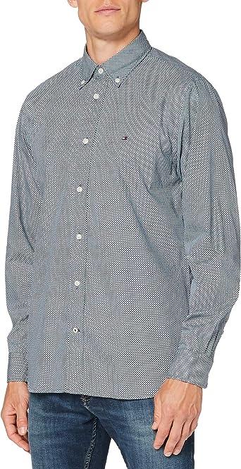 Tommy Hilfiger Micro Bandana Print Shirt Camisa, Blue, XXX-Large para Hombre: Amazon.es: Ropa y accesorios