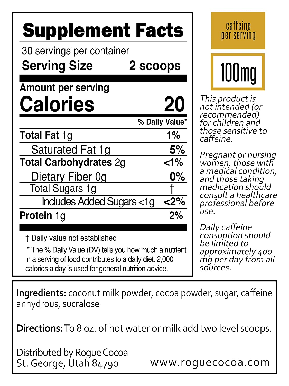 Amazon.com : Rogue Cocoa- The Original Caffeinated Hot Chocolate ...