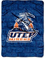 NCAA Texas, El Paso Miners 46-Inch-by-60-Inch Micro-Raschel Blanket, Grunge Design