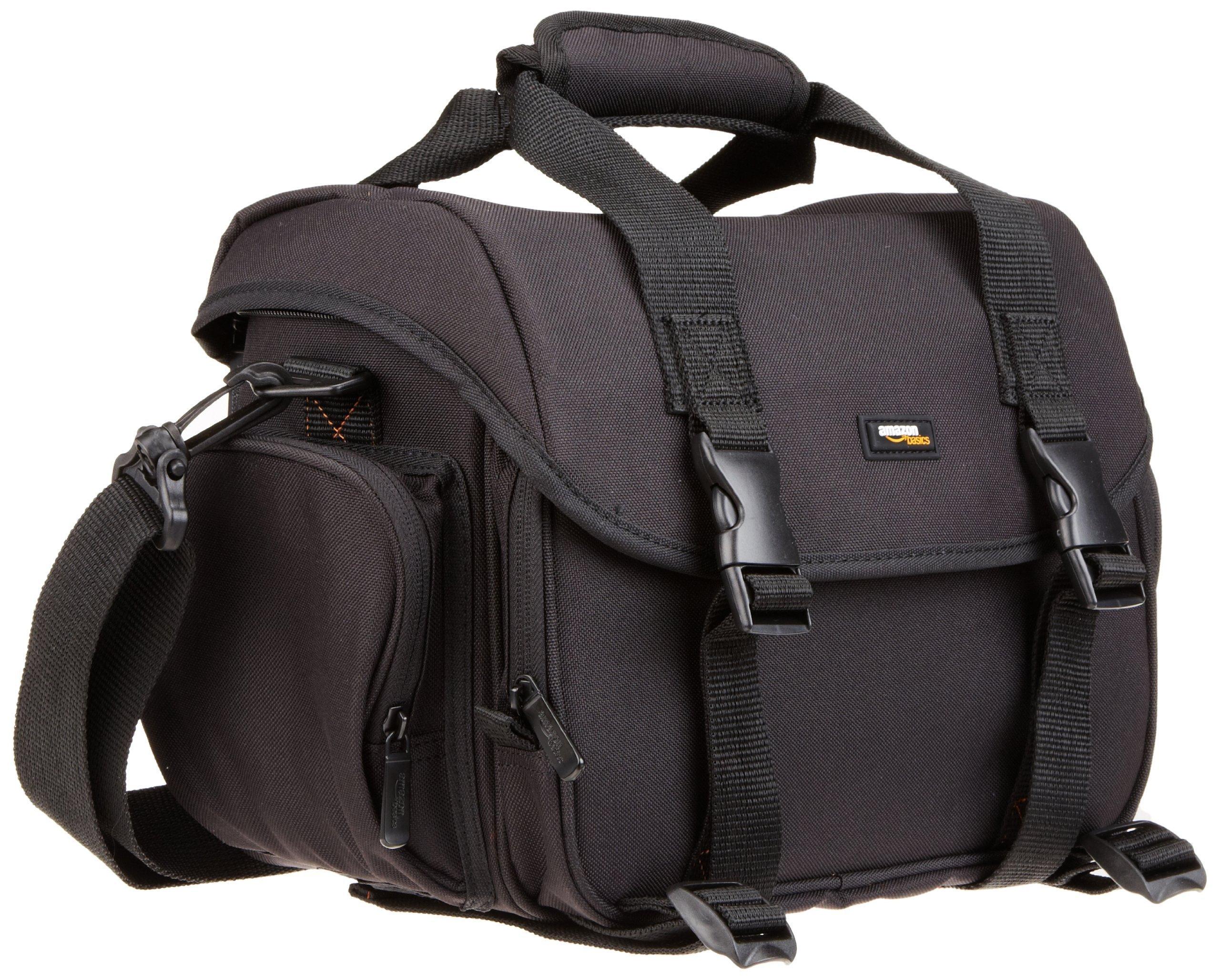 AmazonBasics Large DSLR Camera Gadget Bag - 11.5 x 6 x 8 Inches, Black And Orange by AmazonBasics