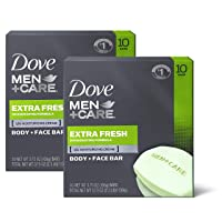 Dove Men+Care Body and Face Bar to Clean and Hydrate Skin Extra Fresh Body and Facial...