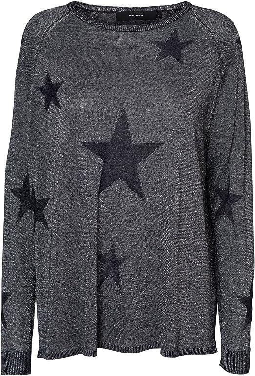TALLA S. Vero Moda Vmtiny Star LS Boatneck Blouse Nvl suéter para Mujer