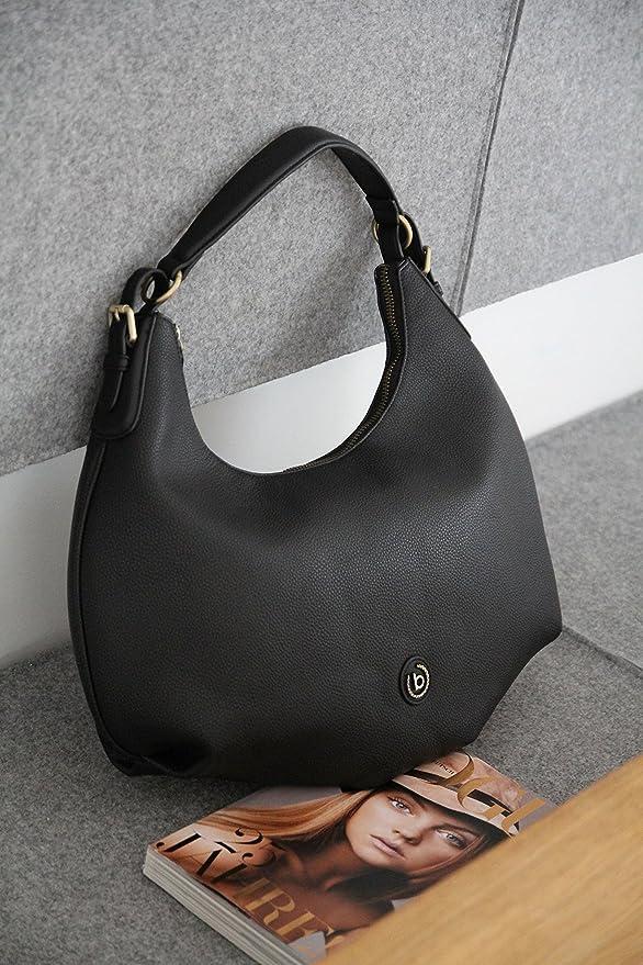 8b1ebdd973773 Rabatt Manchester bugatti Passione Kunstleder Hobo Handtasche für Damen -  edle Schultertasche in schwarz Günstig Kaufen