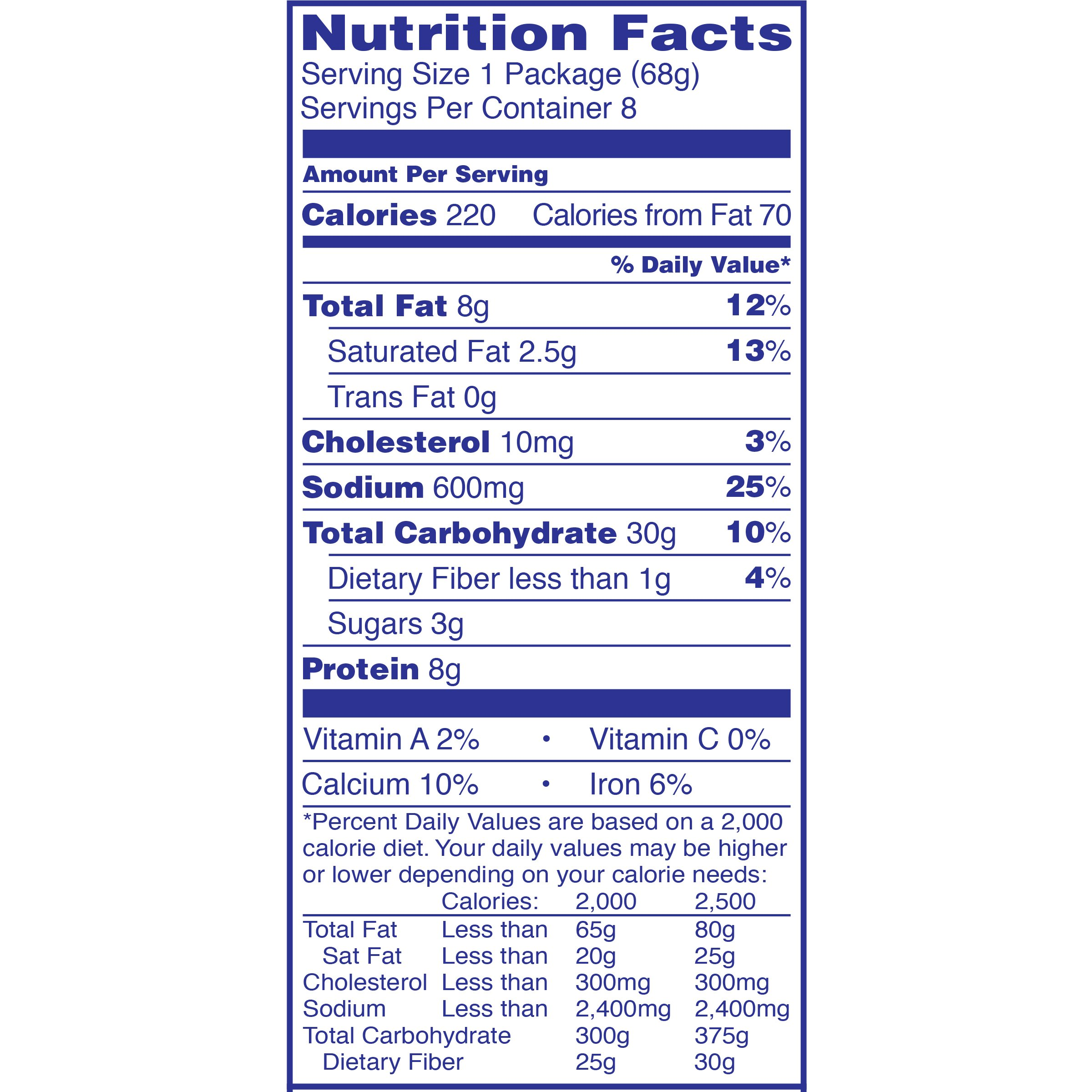 recipe: velveeta mac and cheese box nutrition [27]
