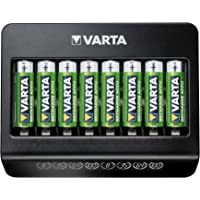 Varta 57681101401 Multi Charger+, lader voor accu's in AA/AAA/9V en USB-apparaten, laden via individuele laadschacht, 8…