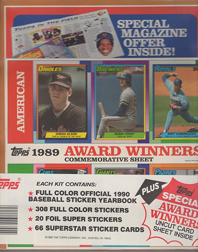 1990 Complete Set Topps Yearbook W Don Mattingly Cover Stickers