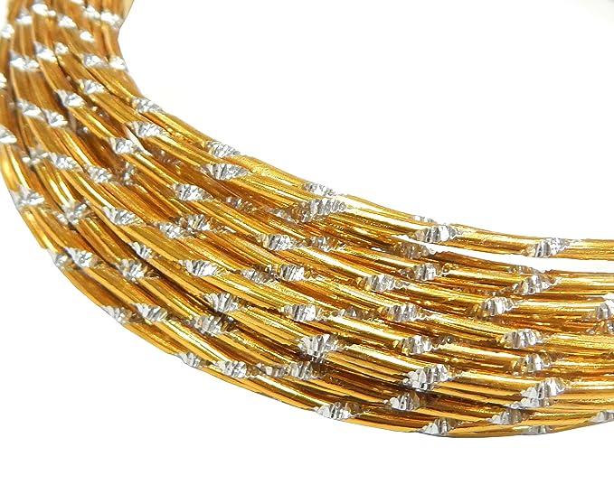 1 opinioni per Filo di alluminio, 5 metri, effetto diamante, per gioielli, rotondo, 2 mm,