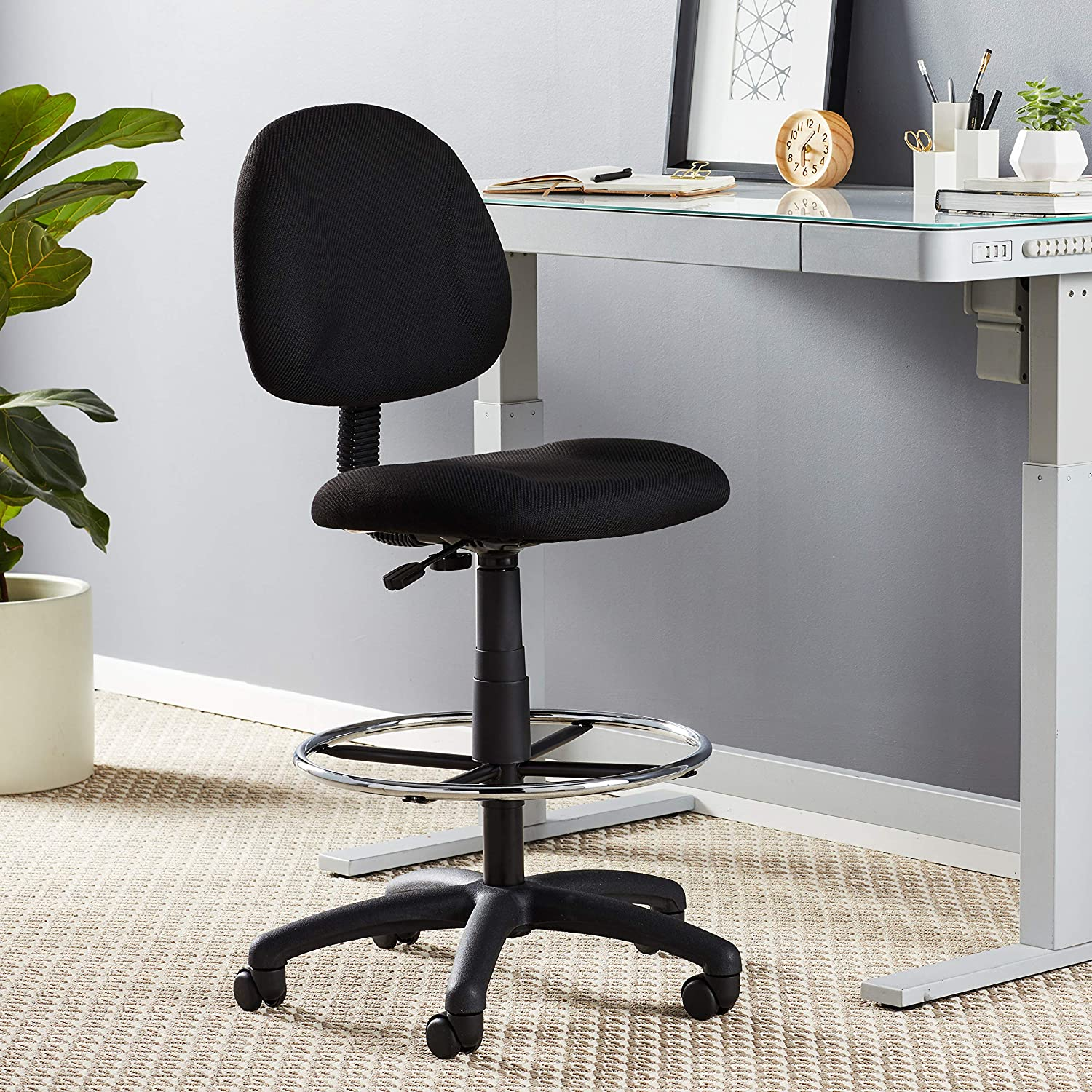Boss Office Products Ergonomic Works Drafting Chair No Arms