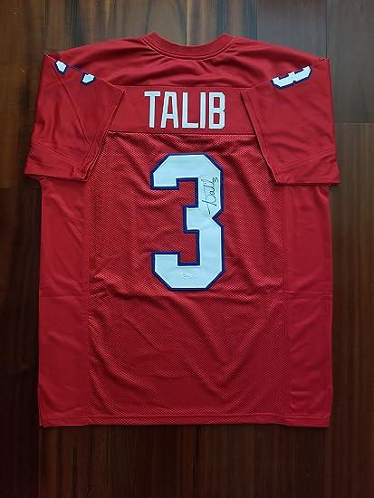Amazon.com: Aqib Talib Signed Autographed Jersey Kansas Jayhawks ...