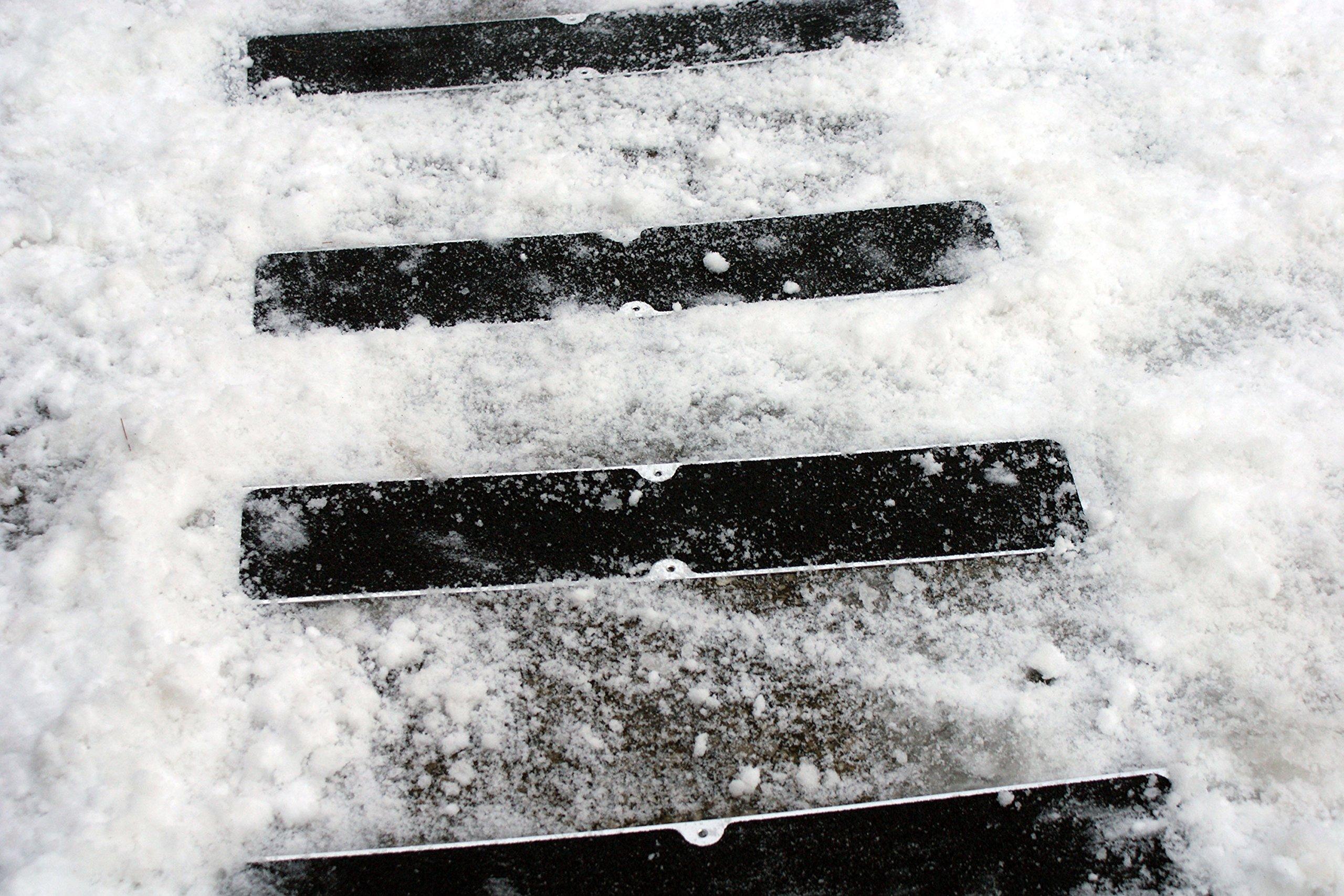 Bolt Down Anti Slip Plates, Black Coarse 4.5''x25''