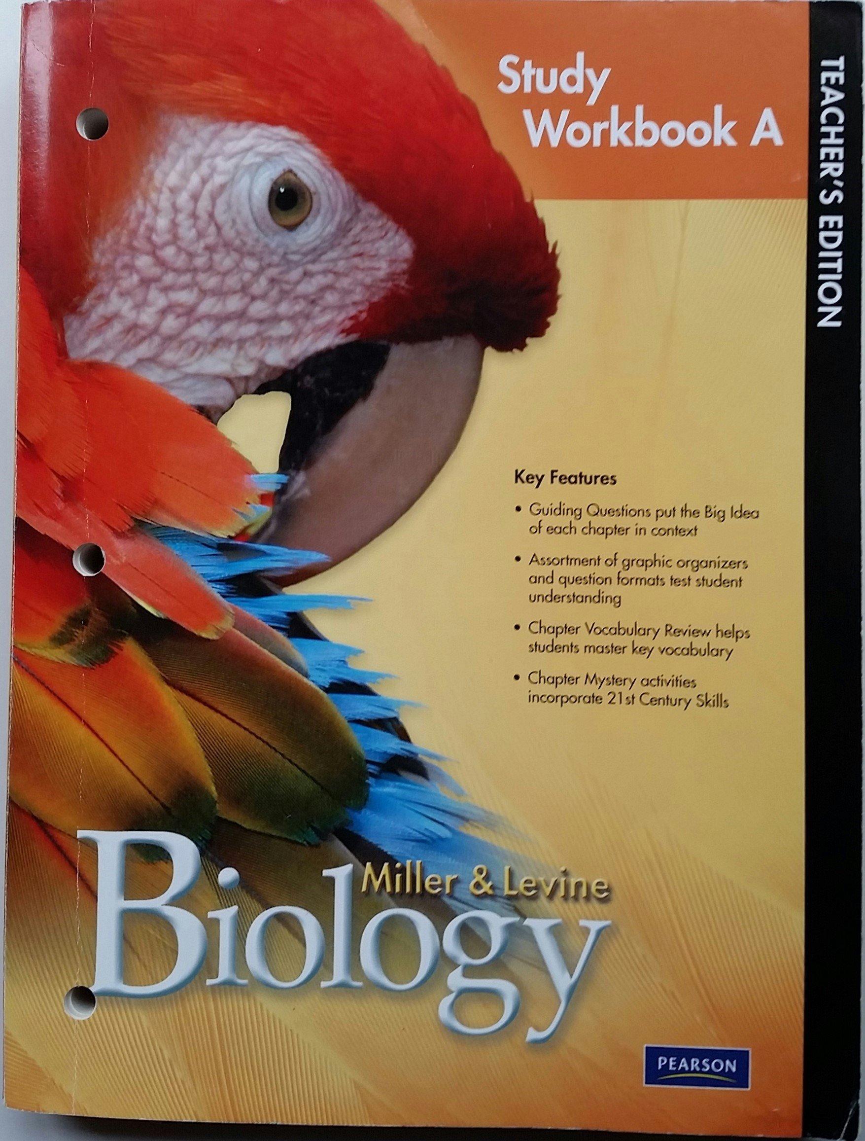 Worksheets Miller And Levine Biology Worksheets biology study workbook a teachers edition 9780133687194 0133687198 2010 ken and joe levine miller amazon com bo