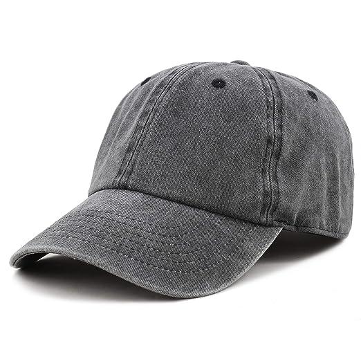 4a57cb5a56d4eb The Hat Depot 100% Cotton Pigment Dyed Low Profile Six Panel Cap Hat (Black