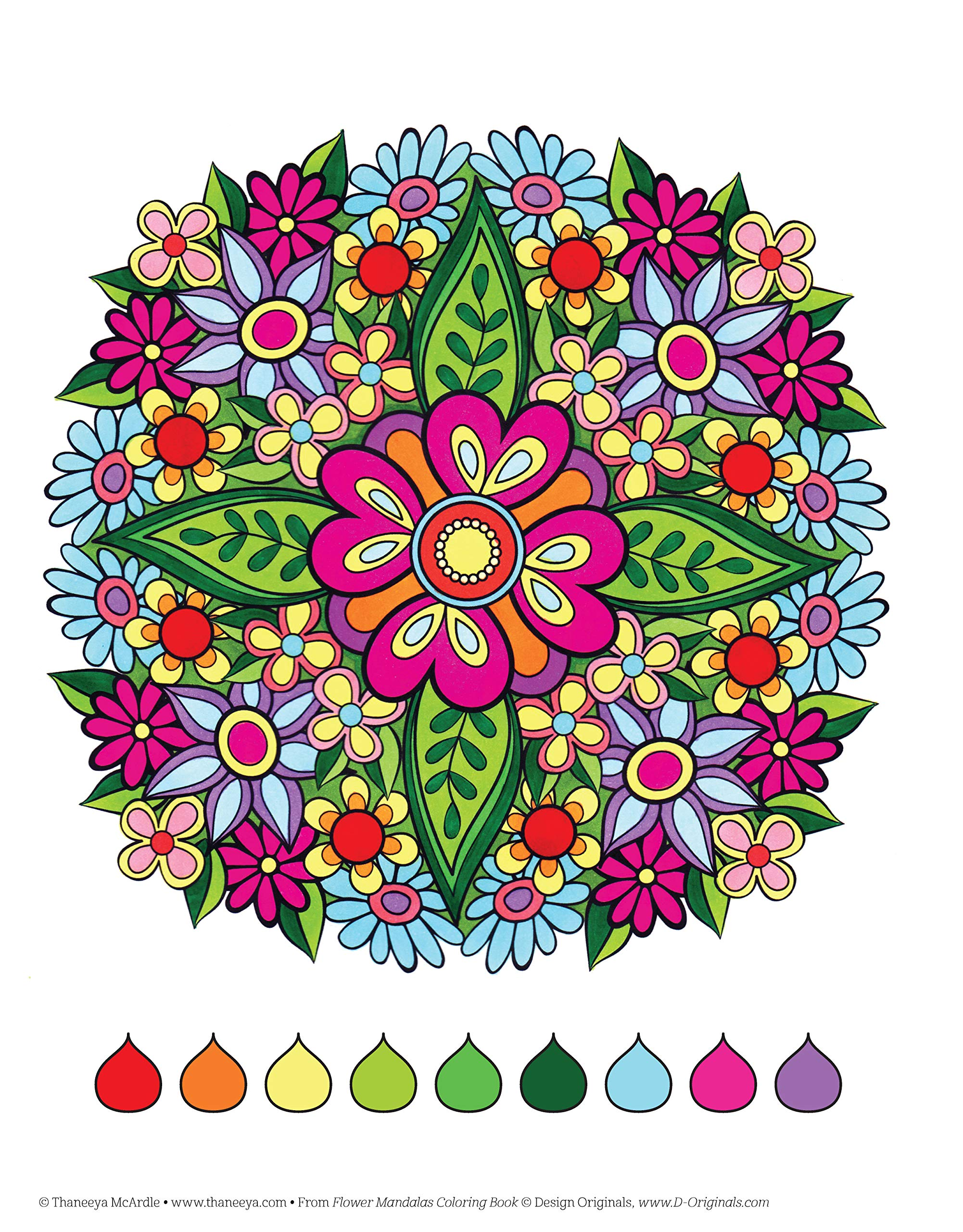 Flower Mandalas Coloring Book (Coloring Is Fun): Amazon.de: Thaneeya ...