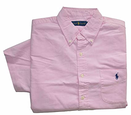 7247aff08 Polo Ralph Lauren Men s Short Sleeve Button Front Oxford Shirt at ...