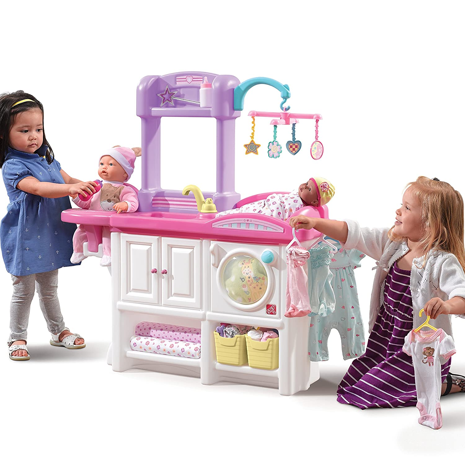 dolls furniture set. Buy Step 2 Love And Care Deluxe Plastic Nursery Doll Furniture Set Online At Low Prices In India - Amazon.in Dolls R
