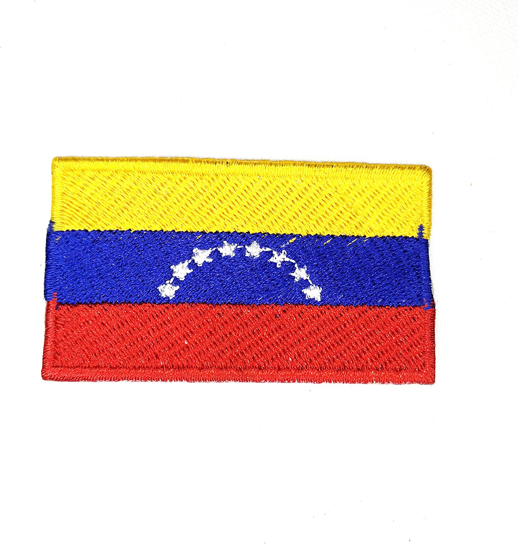 Parche bordado de la bandera nacional de Venezuela para coser o planchar: Amazon.es: Hogar